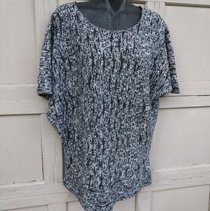 Vintage Grey Sweater Blouse XL